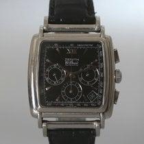 Zenith El Primero Chronograph occasion 36mm Noir Chronographe Tachymètre Cuir