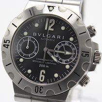 Bulgari Steel 38mm Automatic SCB pre-owned