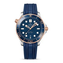 Omega Semaster Diver Watch Gents Rubber Strap Watch 42mm...