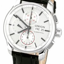 Union Glashütte pre-owned Automatic 43mm Silver Sapphire Glass 10 ATM