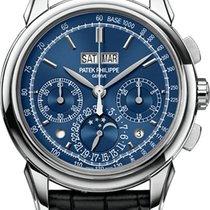 Patek Philippe Bílé zlato Ruční natahování Modrá Bez čísel 41mm nové Perpetual Calendar Chronograph