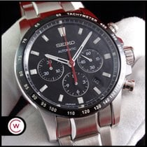 Seiko Ananta Steel 43mm Black No numerals