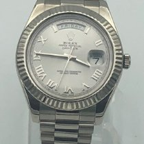 Rolex Day-Date II White gold 41mm Silver United States of America, California, Los Angeles