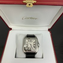 Cartier Santos 100 pre-owned White Crocodile skin