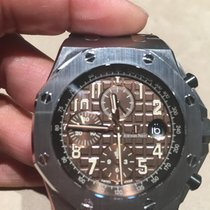 Audemars Piguet Royal Oak Offshore Chronograph Staal 42mm Bruin Arabisch Nederland, Almelo
