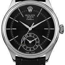 Rolex Cellini Dual Time White gold 39mm Black United States of America, California, Moorpark