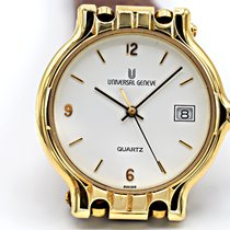 Universal Genève new Quartz Central seconds 33mm Yellow gold Mineral Glass