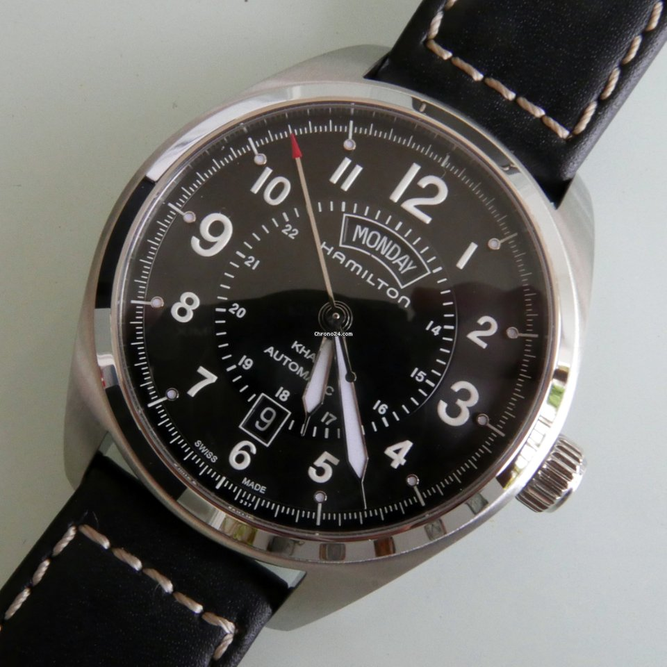 Hamilton Herren Analog Automatik Uhr mit Leder Armband H32645555: Uhren.