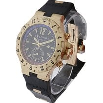 Bulgari GMT40GVD Diagono Pro Aria GMT Chrono - Yellow Gold on...