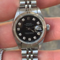 Rolex Date zaffiro (Datejust) diamanti Diamonds steel 26 Lady
