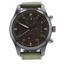 IWC Pilot Chronograph Top Gun Miramar pre-owned 46mm Grey Chronograph Buckle