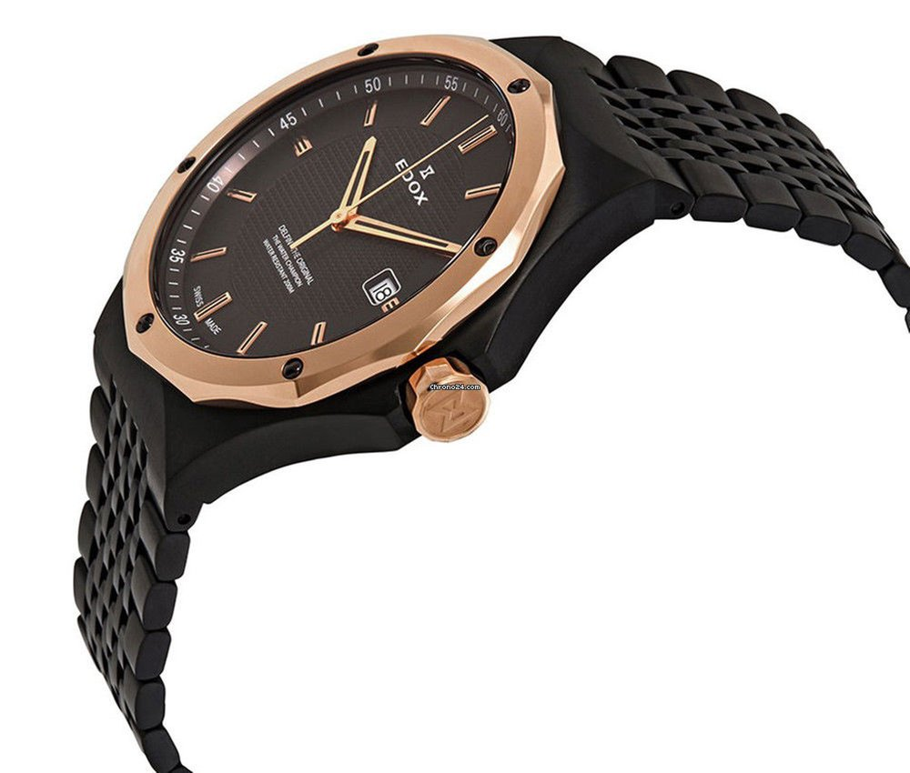 57c70d861 Edox Delfin Black PVD Stainless Steel Mens Watch Calendar... za 347 € k  prodeji od Trusted Seller na Chrono24