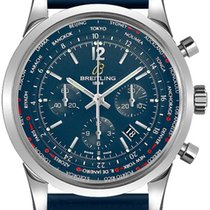 Breitling Transocean Unitime Pilot Steel 46mm Blue United States of America, California, Moorpark
