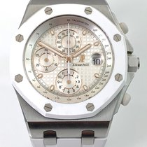Audemars Piguet Royal Oak Offshore Chronograph Ocel 42mm Bílá Bez čísel