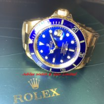 Rolex Submariner Date pre-owned 40mm Blue Date Yellow gold