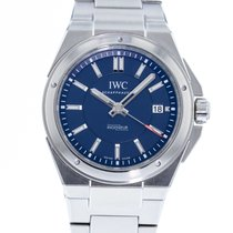 IWC Ingenieur Automatic pre-owned 40mm Blue Date Steel