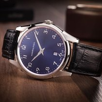 Hamilton Jazzmaster Thinline pre-owned 42mm Blue Date Leather