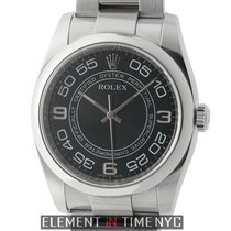 Rolex Oyster Perpetual 36mm Stainless Steel No-Date Black...