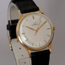 Marvin Yellow gold 35mm Manual winding pre-owned