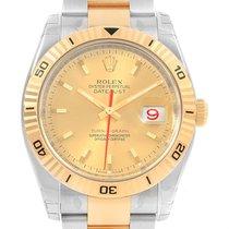 Rolex Datejust Turnograph Steel Yellow Gold Mens Watch 116263...
