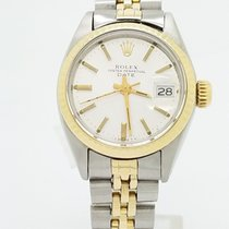Rolex Date Silver Dial 6917 18k Gold & Steel Automatic Watch...