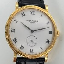 Patek Philippe Calatrava Manual 33mm Yellow Gold Mens Strap...