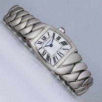 Cartier La Dona de Cartier Oro blanco 22mm Negro Romanos