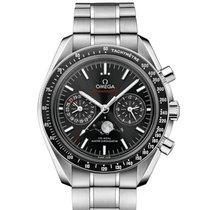 Omega Speedmaster Professional Moonwatch Moonphase 30430445201001 Neu Stahl Automatik