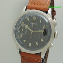Lemania Chronograaf 37mm Handopwind tweedehands Zwart