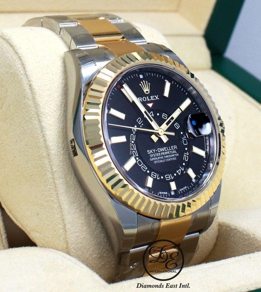 Rolex Sky,dweller 326933 2,tone 18k Yellow Gold /ss Oyster B/P NEW
