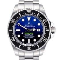 Rolex Sea-Dweller Deepsea Stal 44mm Niebieski Bez cyfr