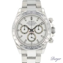 Rolex Steel Automatic White No numerals 40mm pre-owned Daytona
