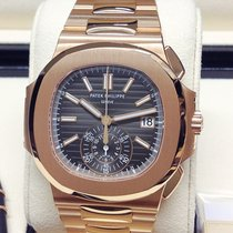 Patek Philippe Nautilus Rose gold 40.5mm Black No numerals United Kingdom, Wilmslow