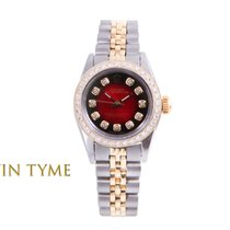 Rolex Oyster Perpetual Gold/Steel 24mm Red