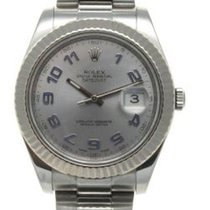 Rolex White gold Automatic 41mm pre-owned Datejust II