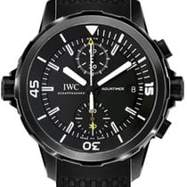 IWC Aquatimer Chronograph Stål 44mm Sort Ingen tal
