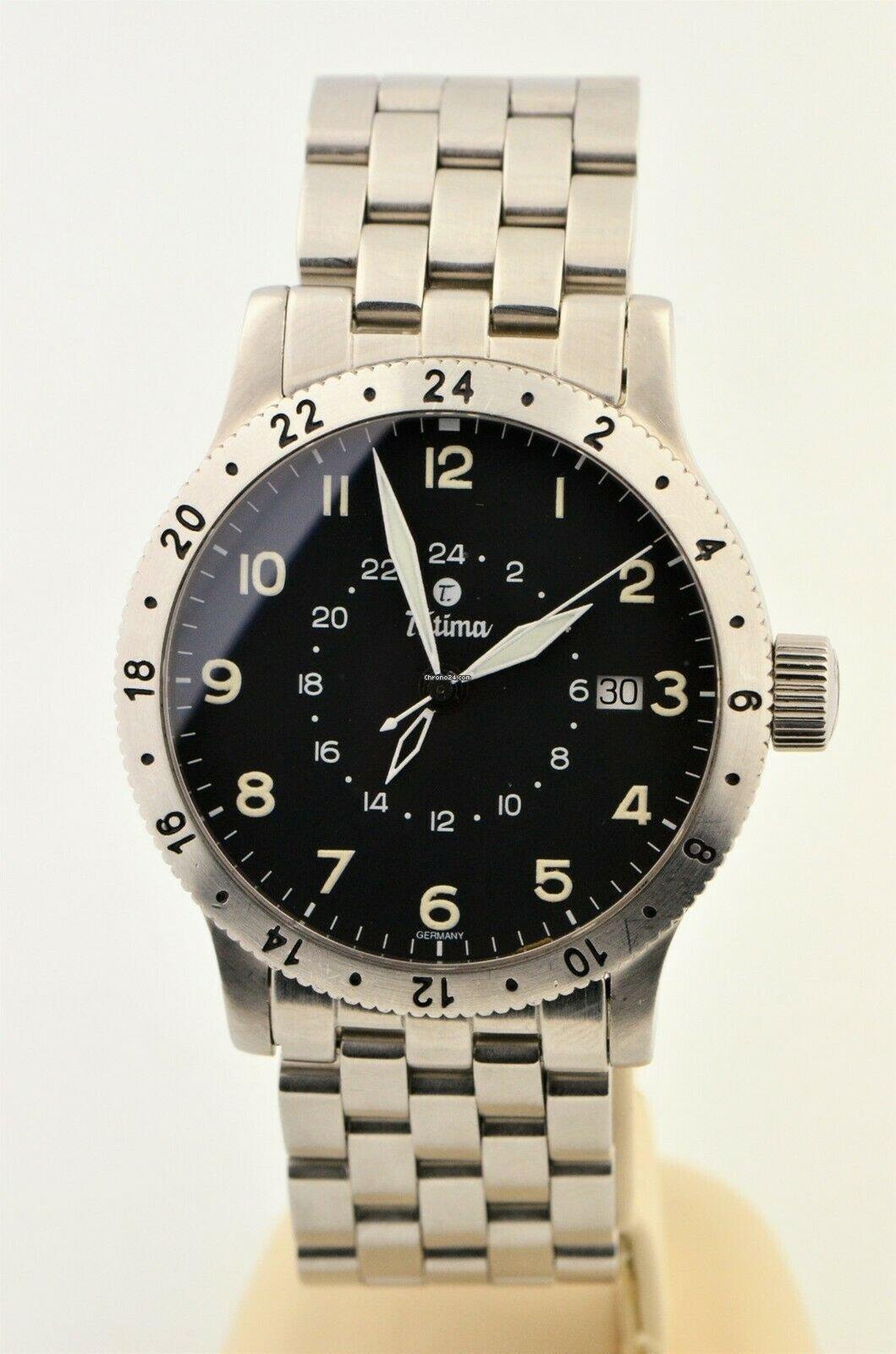 Tutima Fx Utc Gmt Automatic Stainless Steel German Watch