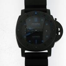 Panerai Luminor GMT Automatic Углерод 47mm Черный Без цифр