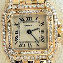 Cartier Zuto zlato 22mm Kvarc CR88370447 rabljen