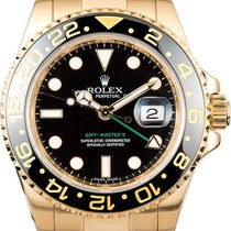 Rolex GMT-Master II Yellow gold 40mm Black No numerals