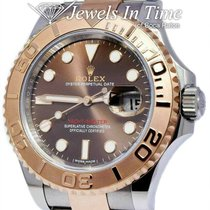 Rolex Yacht-Master 40 pre-owned 40mm Brown Gold/Steel