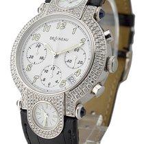 DeLaneau GTC077 WG ML096 C White Gold - Diamond Case - White Dial