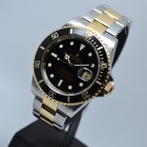 """Rolex Submariner Date NO HOLES/GOLD CLASP """"F"""" serial"""