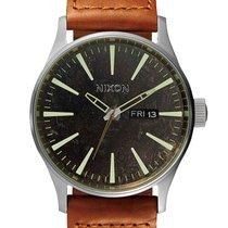 Nixon A105-1959 Sentry Leather Dark Copper Saddle Woven 42mm...