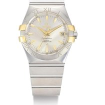 Omega | A Stainless Steel And Yellow Gold Automatic Center...