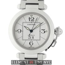 Cartier Pasha Collection Pasha C Stainless Steel 35mm White Dial