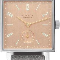 NOMOS Tetra Steel 29.5mm Pink Arabic numerals