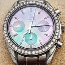 Omega Speedmaster Mother of Pearl Diamond Set Dial & Bezel 39 mm