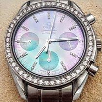 Omega Speedmaster Chronograph All Stainless Steel & Diamonds