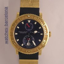 Ulysse Nardin Diver Chronometer Yellow gold 40mm Blue